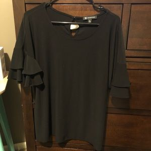 INC ruffle sleeve blouse
